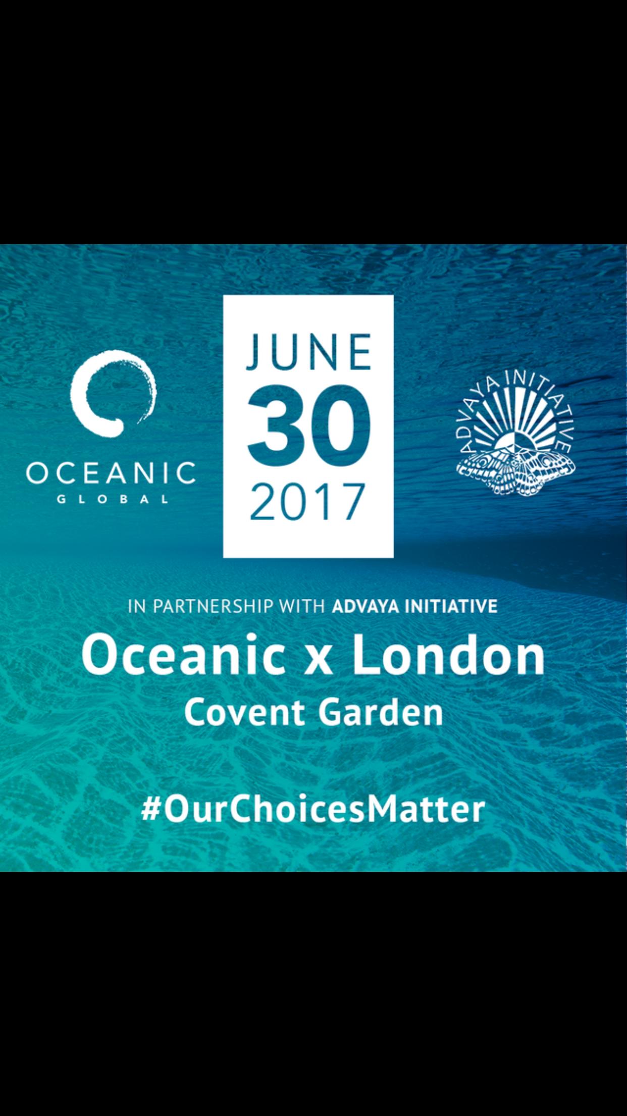 OCEANIC x LONDON with Advaya Initiative