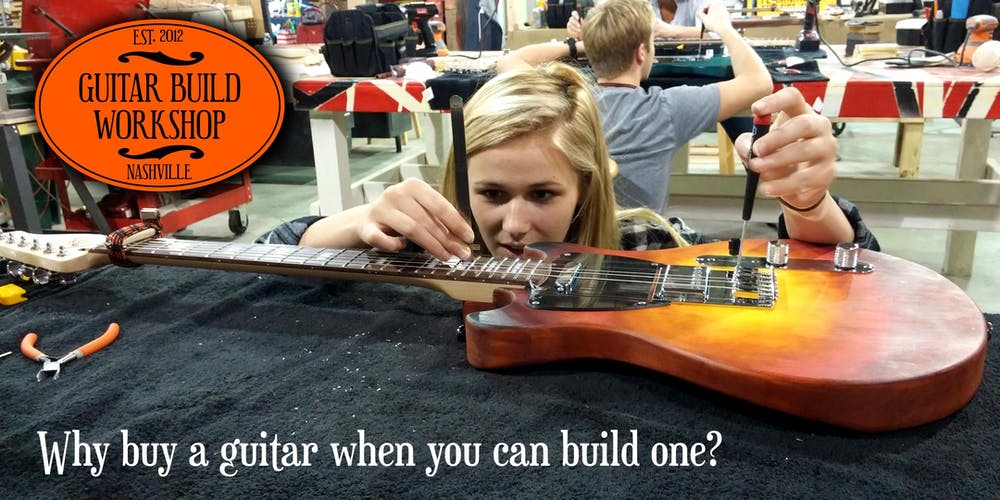 guitar build workshop tickets multiple dates eventbrite. Black Bedroom Furniture Sets. Home Design Ideas