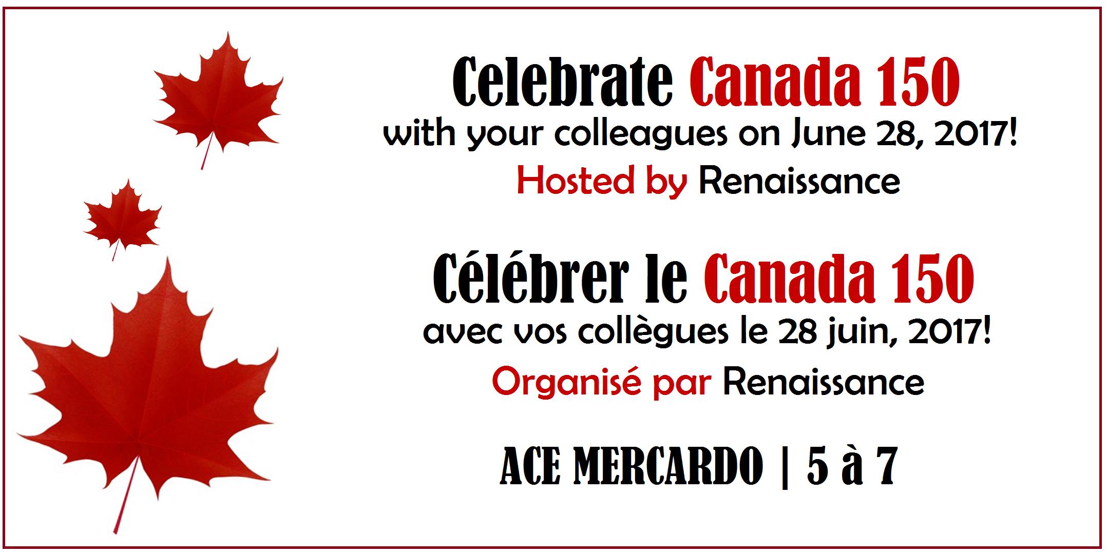 Celebrate Canada 150 | Célébrer le Canada 150