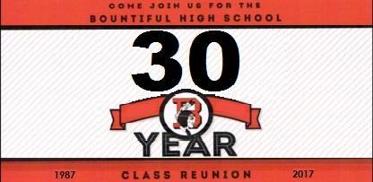 Bountiful High Class of 1987 30 Year Reunion