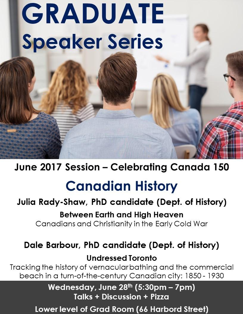 Graduate Speaker Series : Canadian History -