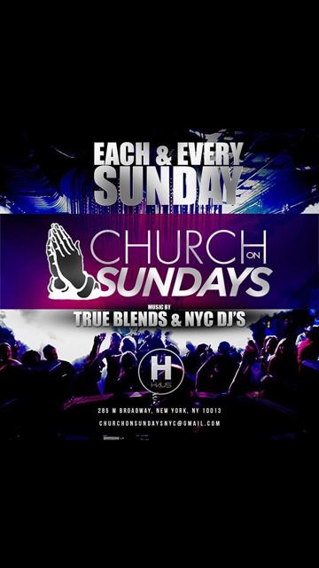 Church on Sundays 1 Hour Open Bar. Church on Sundays 1 Hour Open Bar