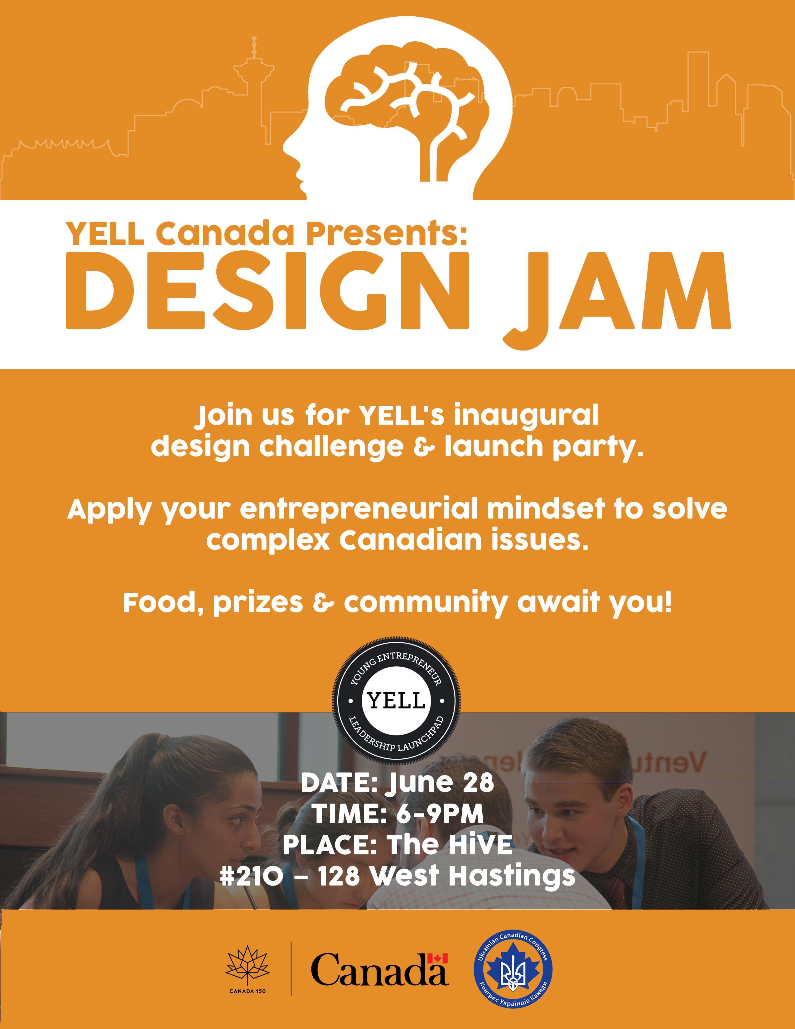 YELL Canada Presents: Design Jam