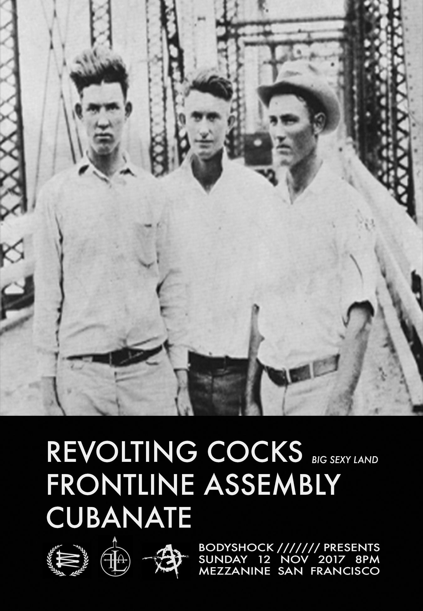 REVOLTING COCKS at MEZZANINE presented by BODYSHOCK
