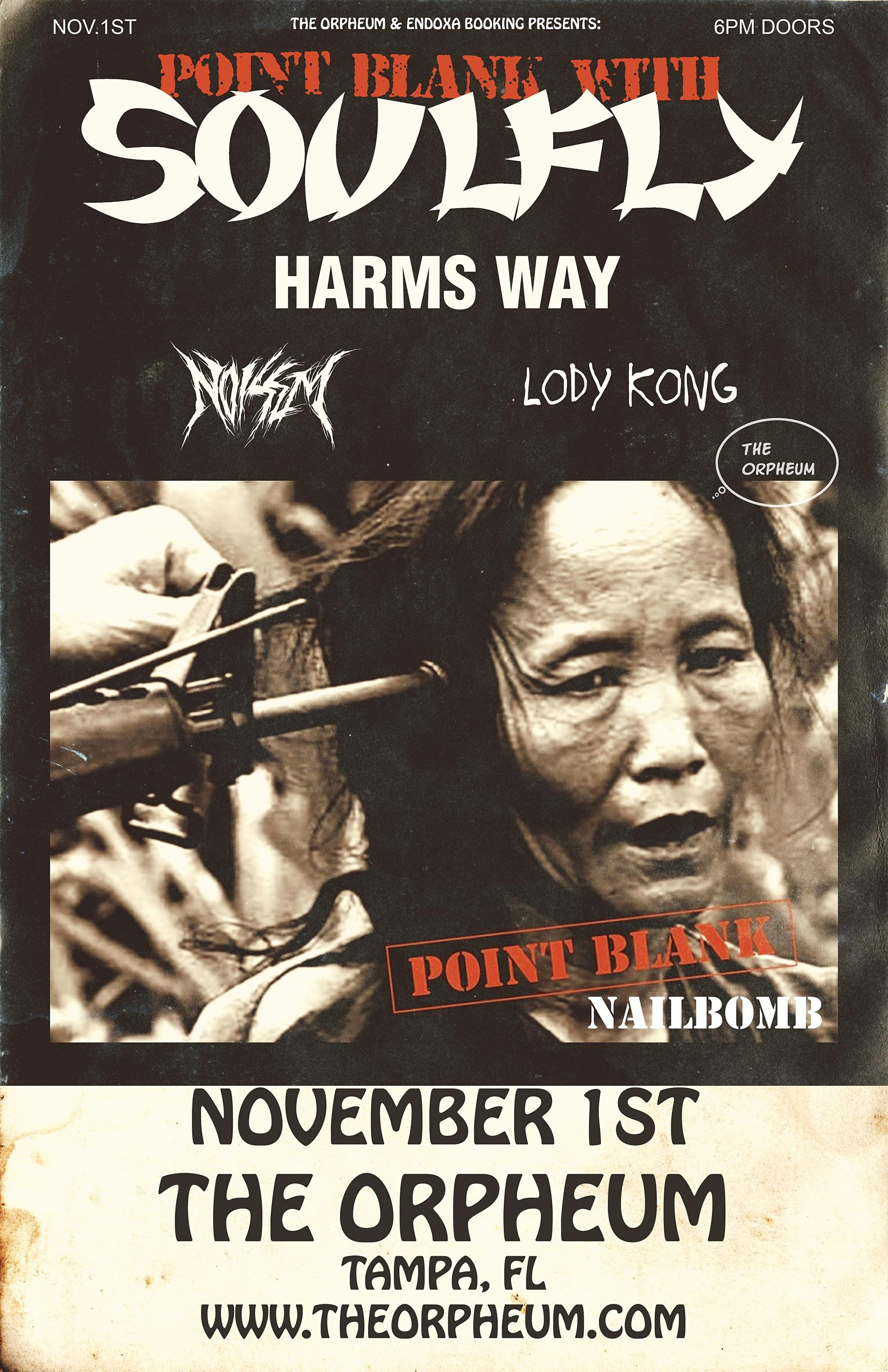 """SOULFLY DOES NAILBOMB: Performing """"Point Blank"""""""