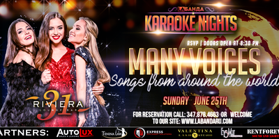 """""""Many Voices"""" Songs From Around the World Karaoke Party By #labandaru"""