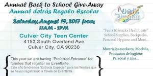 A CHILD'S DREAM ANNUAL BACK TO SCHOOL GIVE-AWAY 2017