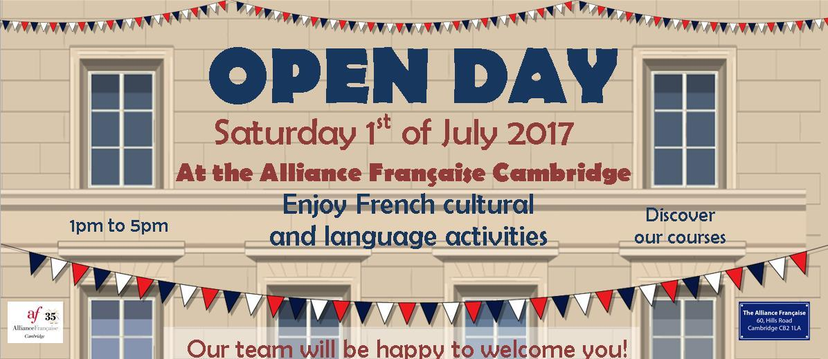 Open Day 2017 at the Alliance Française