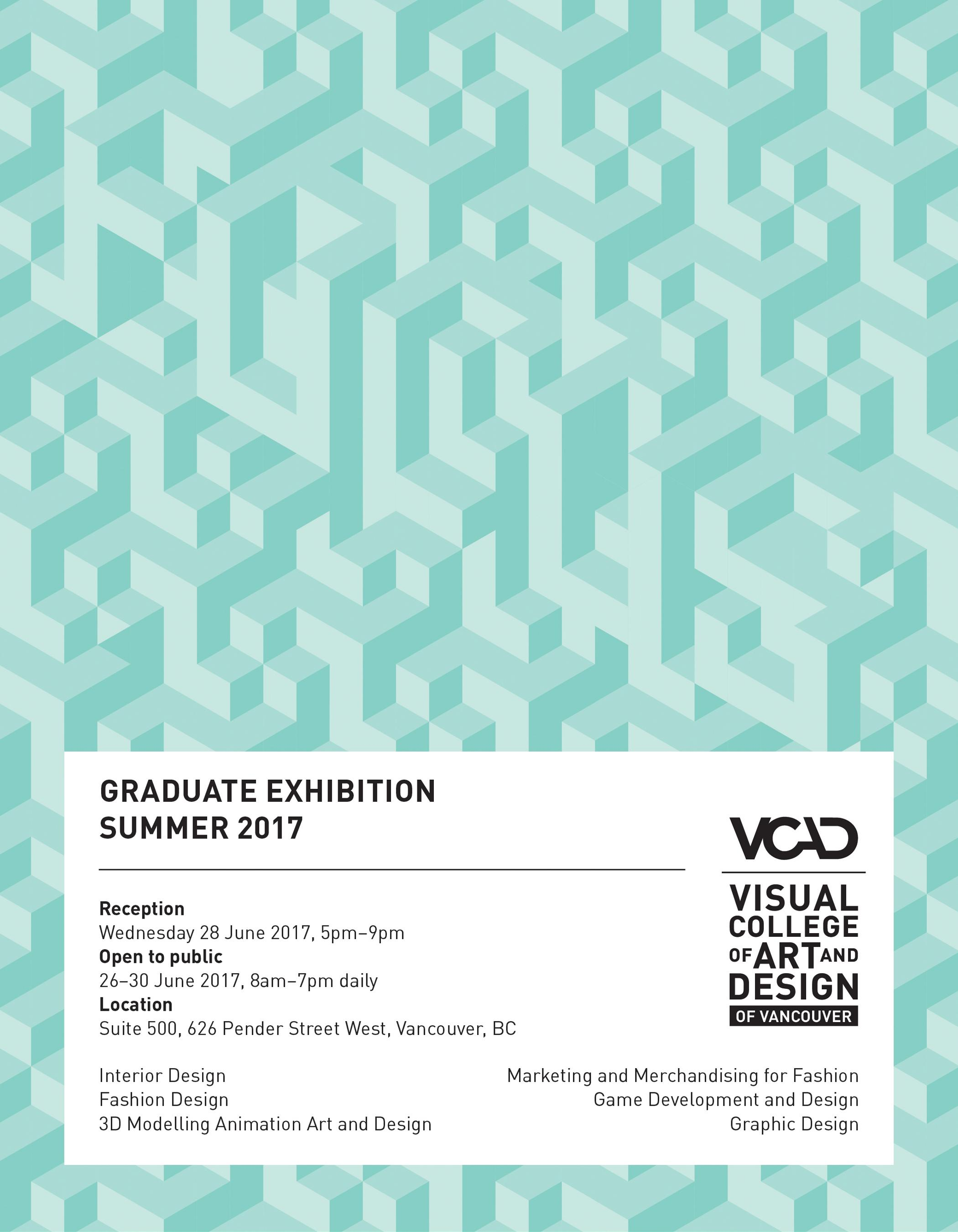 Graduation Exhibition Summer 2017