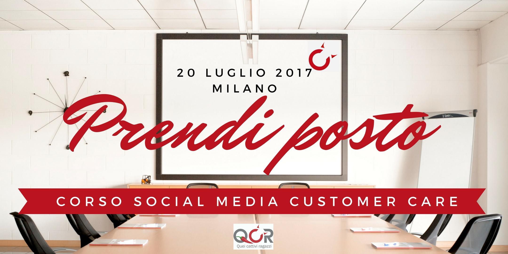 Corso Social Media Customer Care