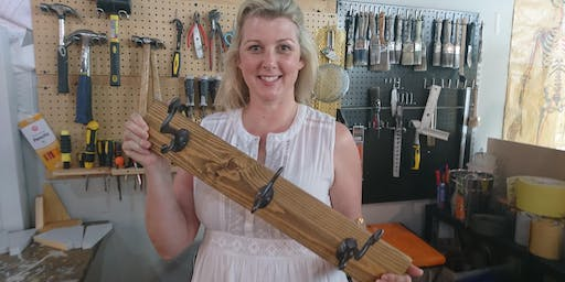 Learn How to use Power Drills and DIY your own Vintage Coat Rack