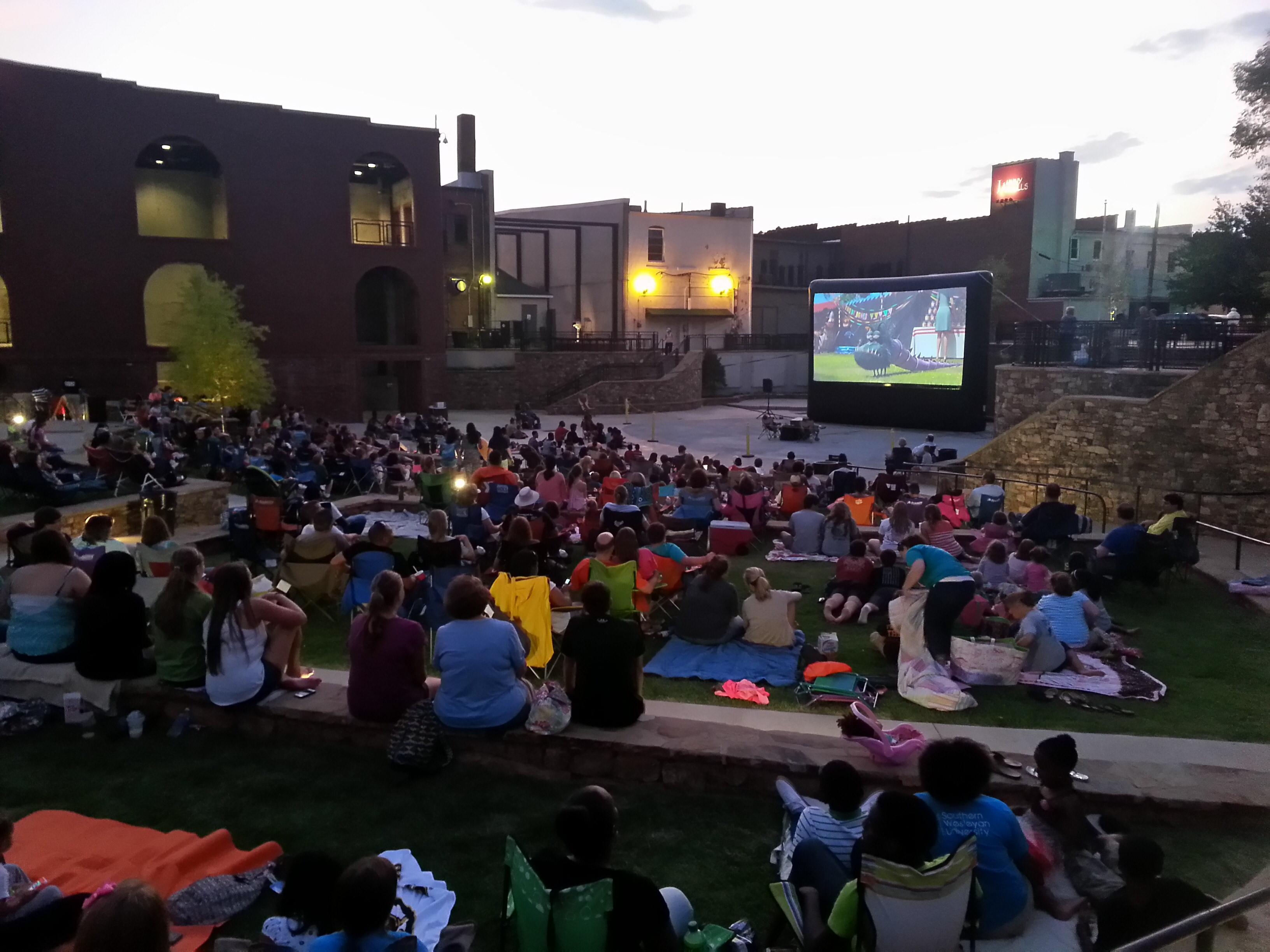 Movie Night in Carolina Wren Park