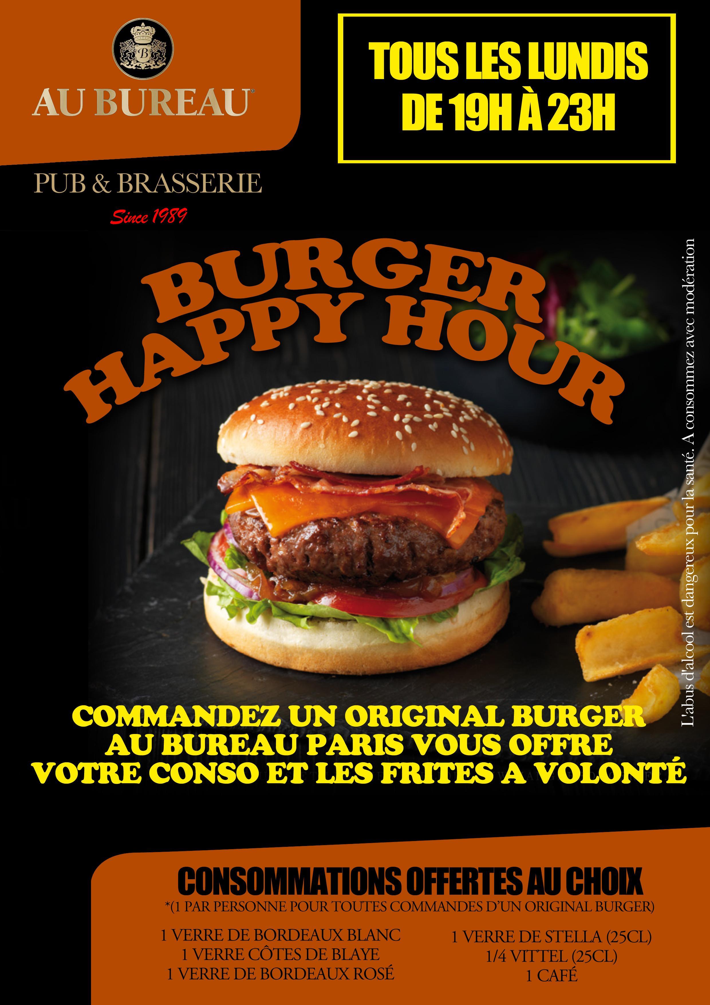 Happy Burger Hour (Frites a volonté et conso