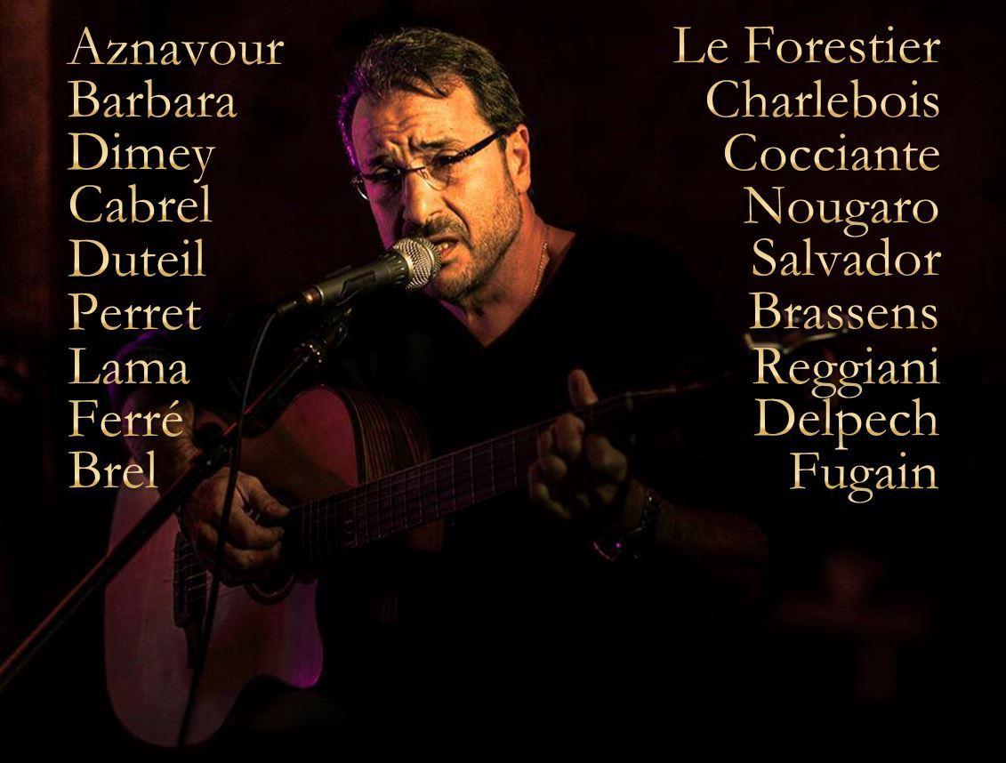 La chanson française en toute intimité... et, au Théâtre Ze Artist's, ce soir !...