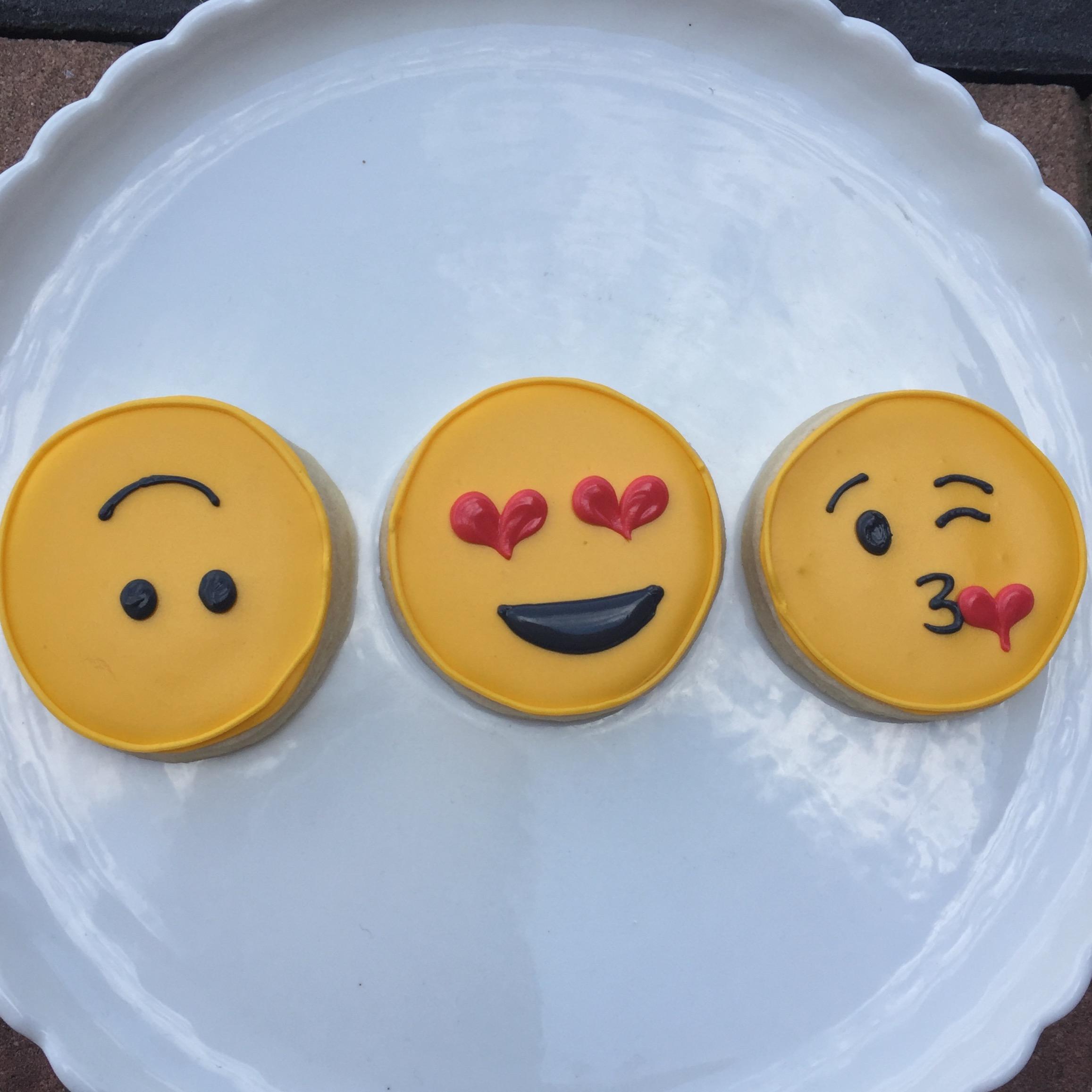 Emoji Cookie Decorating for Kids