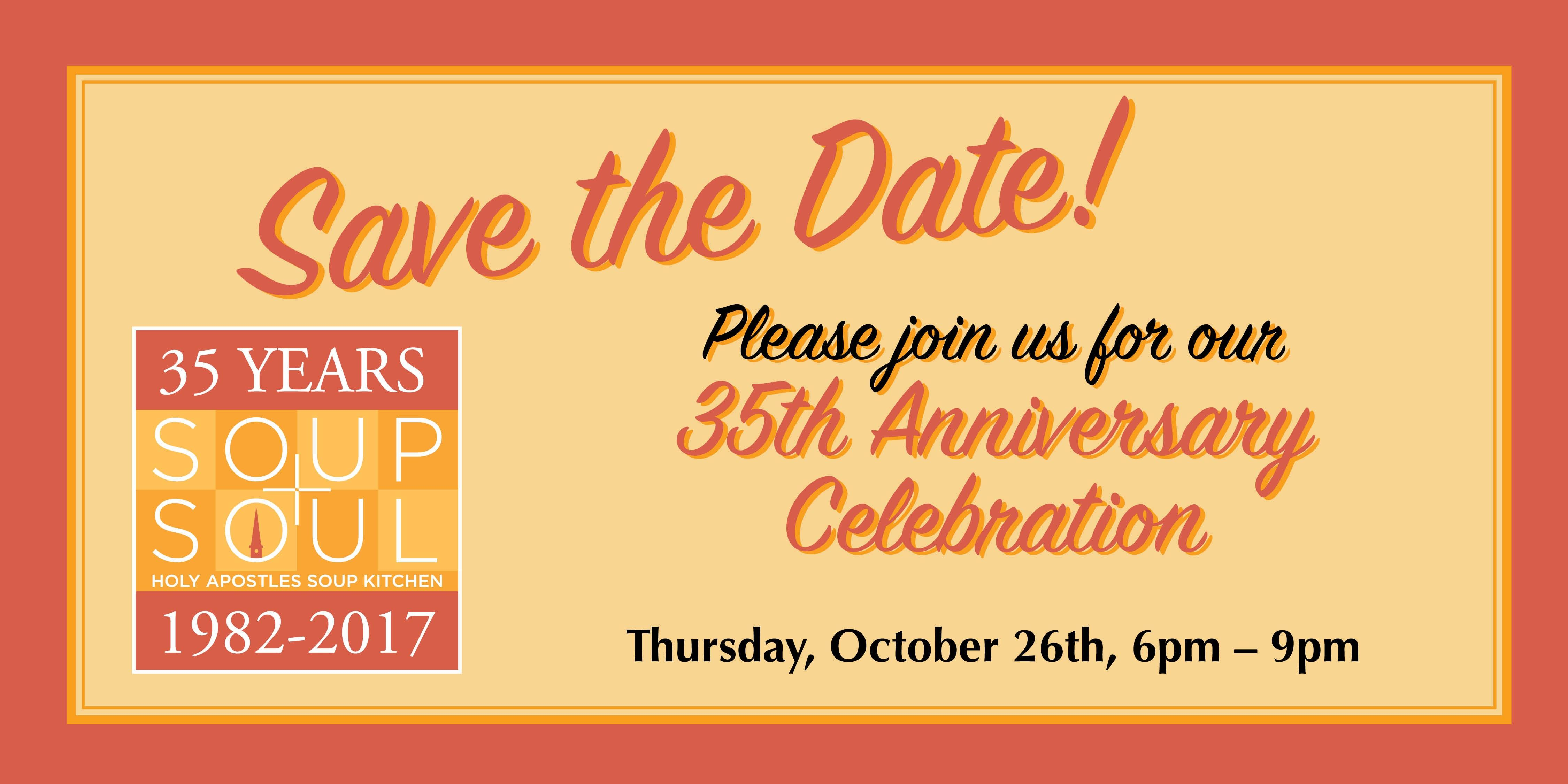 holy apostles soup kitchen 35th anniversary new york 26 oct 2017