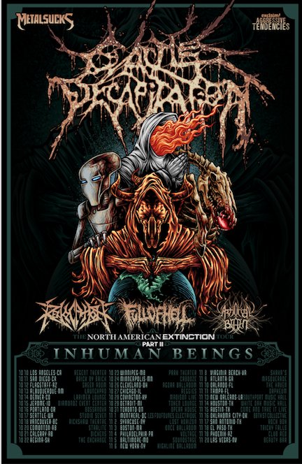 Metal Sucks Presents CATTLE DECAPITATION-The Launchepad Albuquerque, NM-October 13
