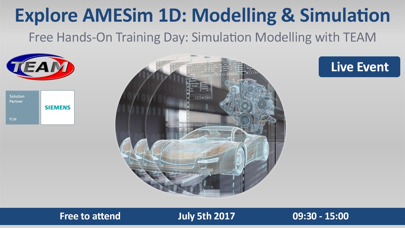 Live AMESim 1D: Training Test Drive and Surge