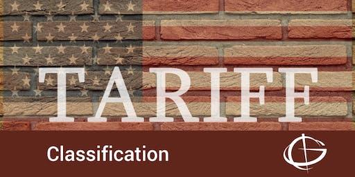 Tariff Classification Seminar in San Diego
