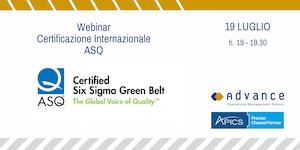 Presentazione Certificazione Internazionale ASQ: 6...