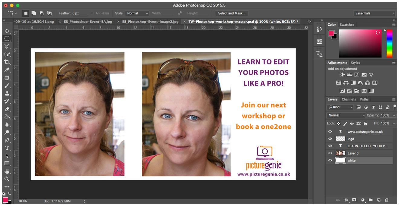 Cambridge - Photoshop for Beginners  - 17 Aug