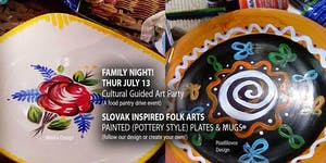 All Ages - Slovak Inspired Folk (Pottery) Art Party by...