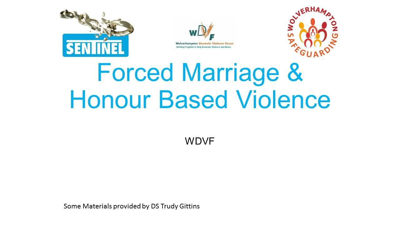 Forced Marriage and Honour Based Violence Tra
