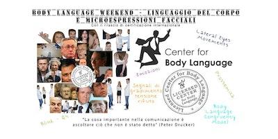 Linguaggio del corpo e microespressioni facciali a Roma (Body Language Weekend)