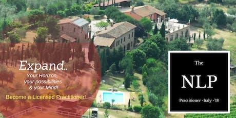 The NLP Practitioner - Tuscany - Italy! biglietti