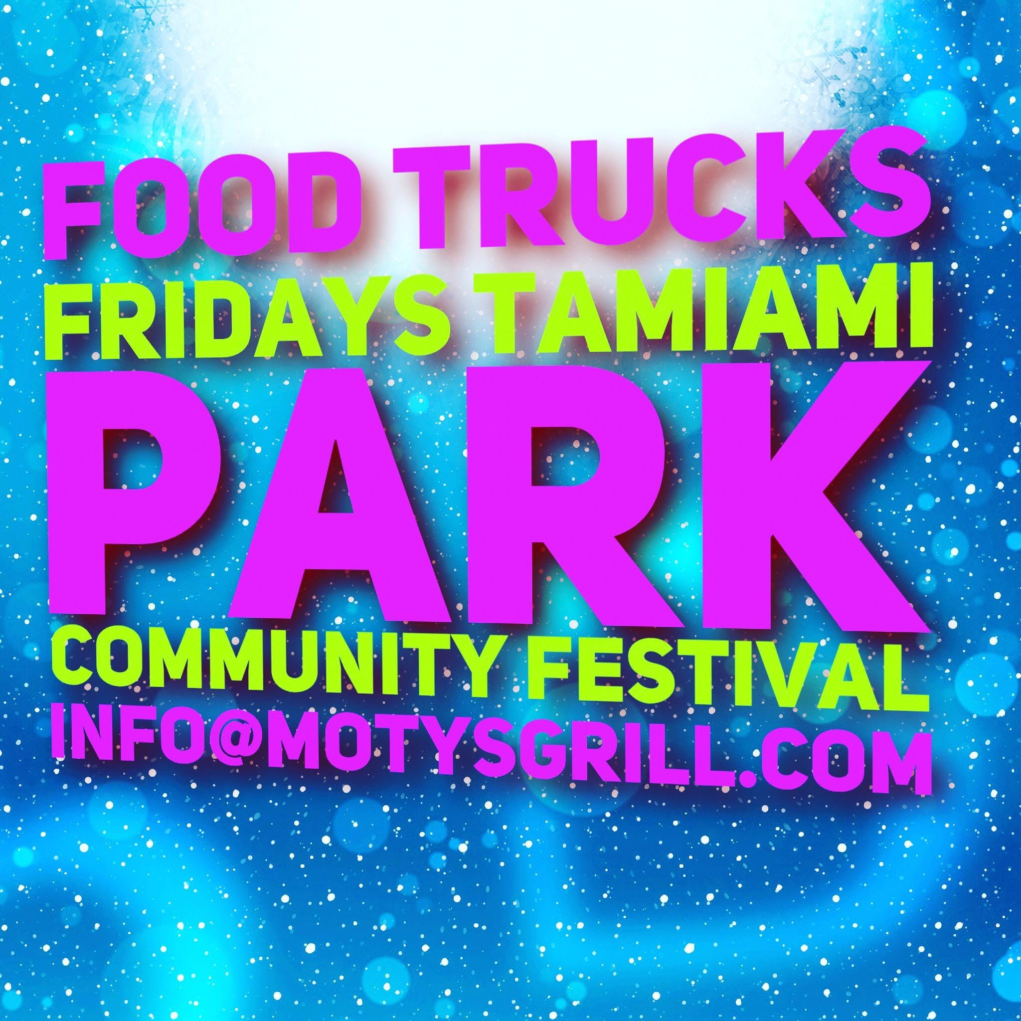 Food trucks Fridays tamiami park