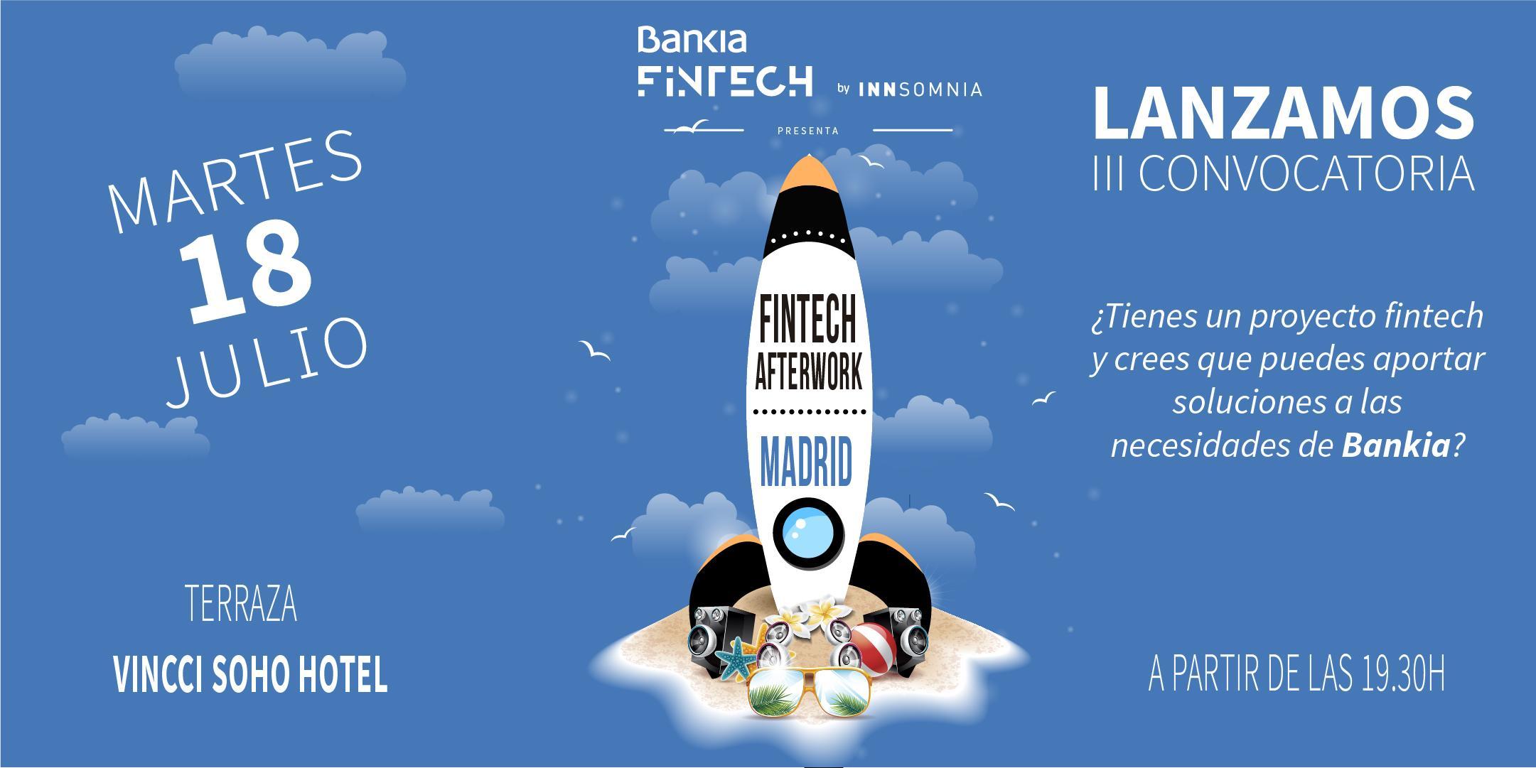 Fintech Afterwork Madrid - Bankia Fintech by Innsomnia.