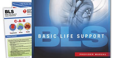 AHA BLS Renewal Course August 19, 2019 (The New 2015 Provider Manual is included!) from 2 PM to 4 PM at Saving American Hearts, Inc. 6165 Lehman Drive Suite 202 Colorado Springs, Colorado 80918.