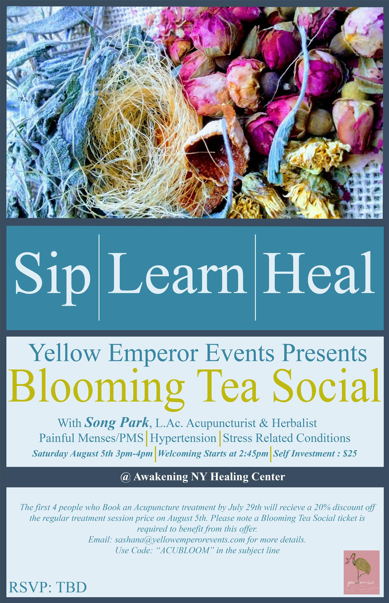 ::Blooming Tea Social:: Saturday Aug. 5th, 3p