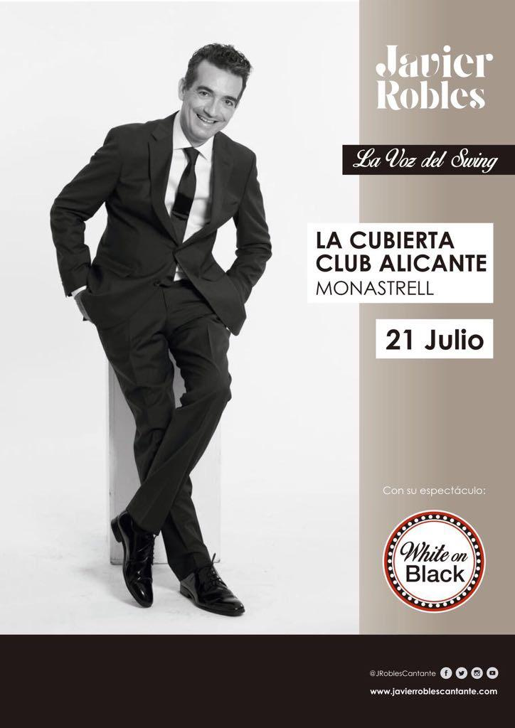 White on Black concierto Javier Robles, la Voz del Swing