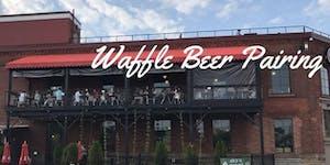 Outdoor Beer Garden Waffle and Craft Beer Pairing