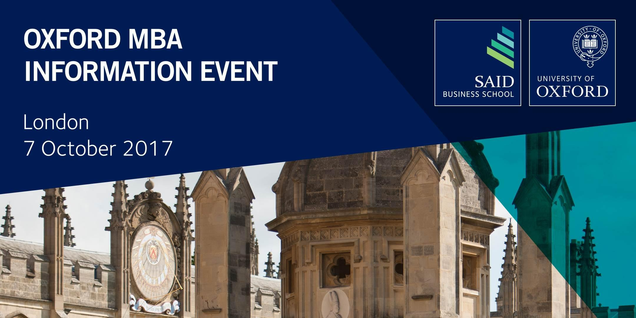 Oxford MBA Information Event in London