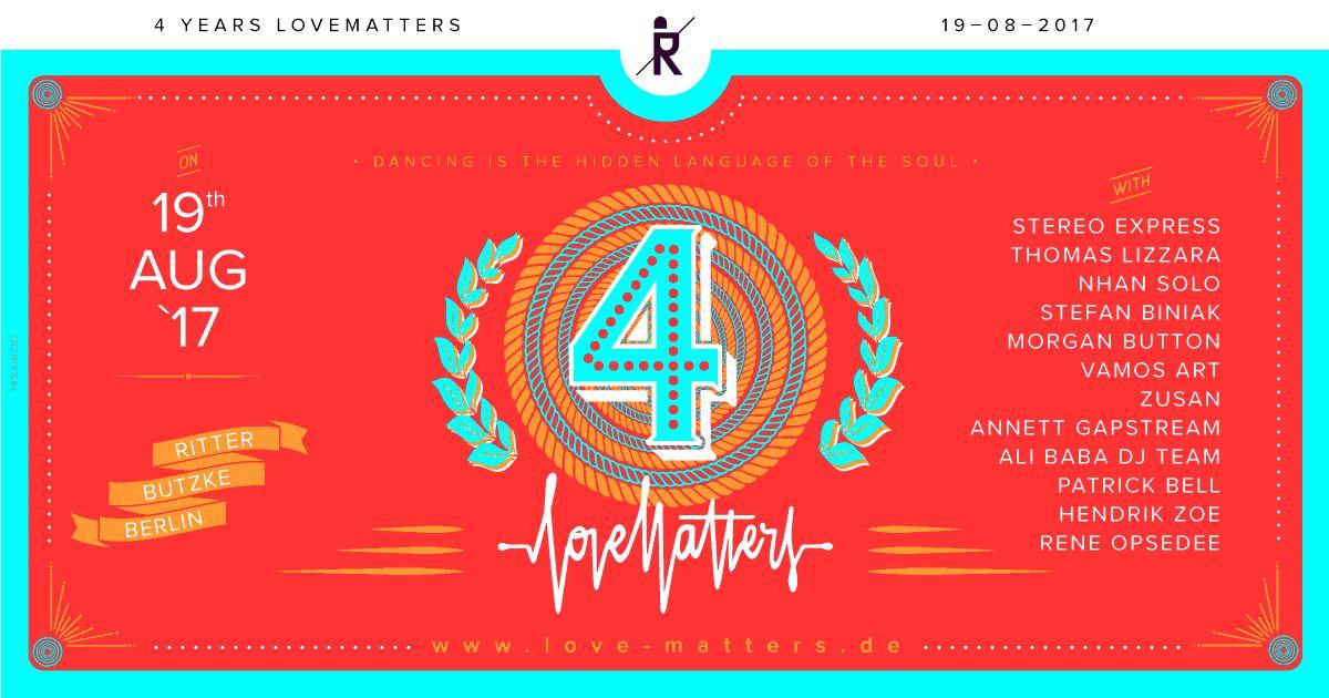 4 Years Love Matters at Ritter Butzke