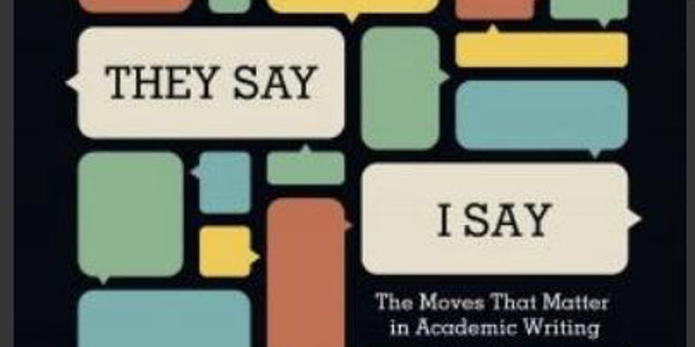 the moves that matter in academic writing essay For voa learning english, this is the education report gerald graff and cathy birkenstein are the writers of a best-selling book about college writing the book is called they say, i say: the moves that matter in academic writing.