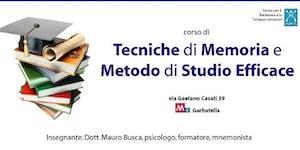 corso di TECNICHE DI MEMORIA E METODO DI STUDIO EFFICAC...