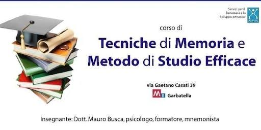 corso di TECNICHE DI MEMORIA E METODO DI STUDIO EFFICACE
