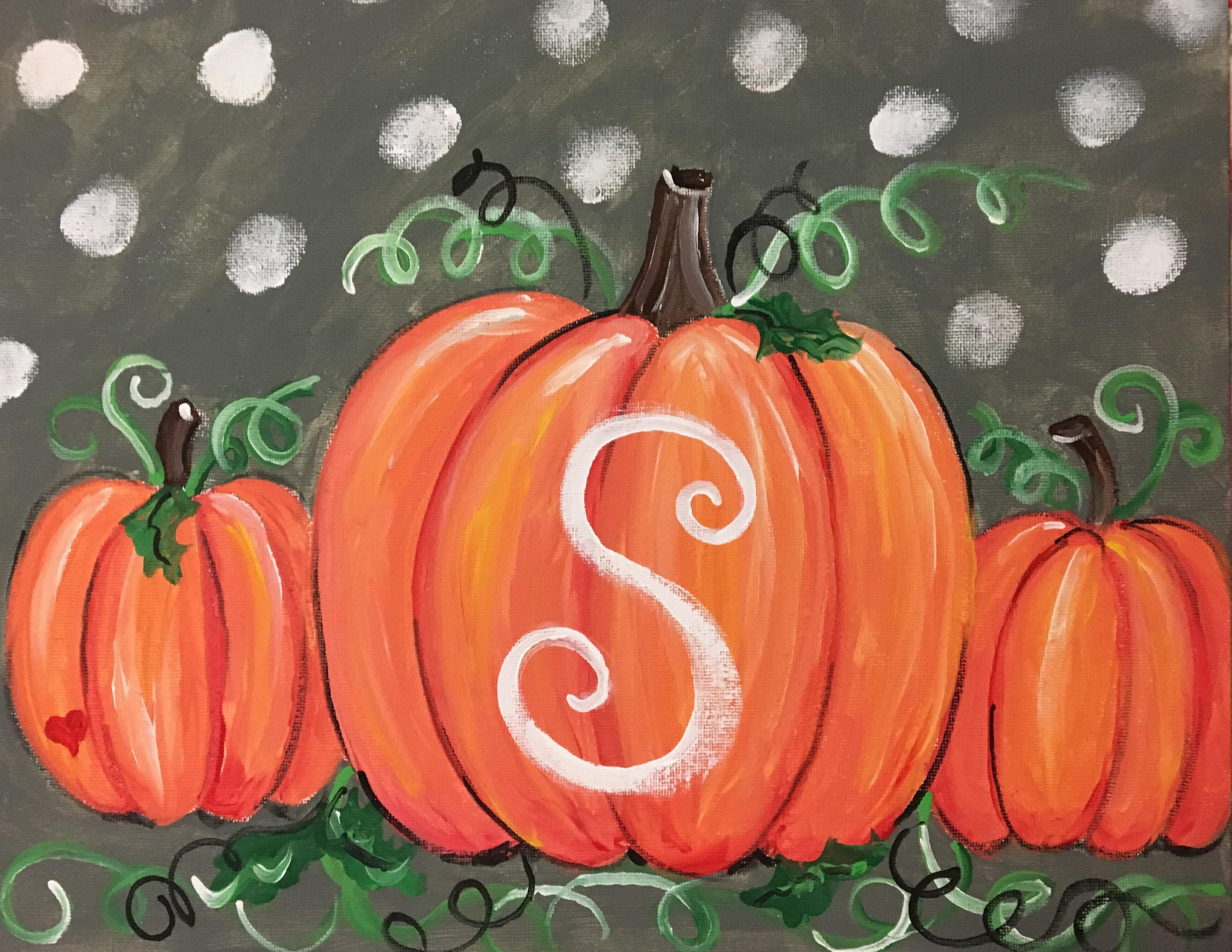 pumpkin patch me & mini me paint-along - farnsworth house inn