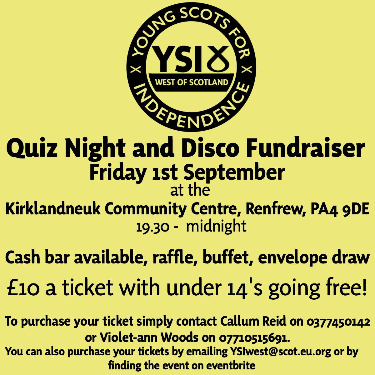YSI West of Scotland Quiz Night