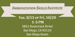 SDIP Immunization Skills Institute Aug and Oct 2017