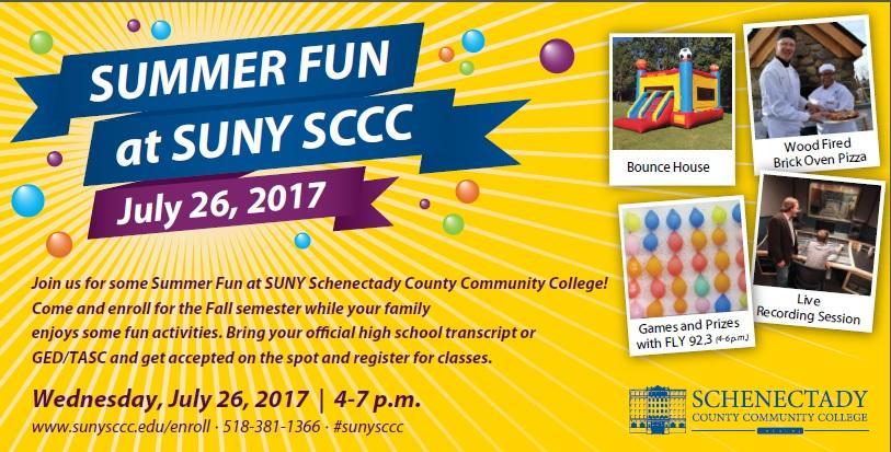 SUNY SCCC Summer Fun Registration Event