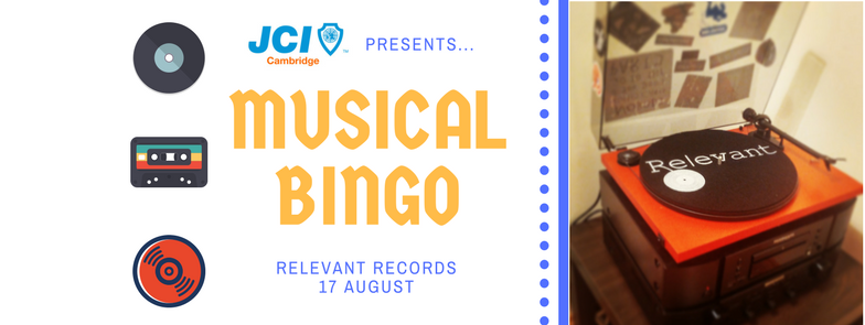 JCI Cambridge presents... Musical Bingo!