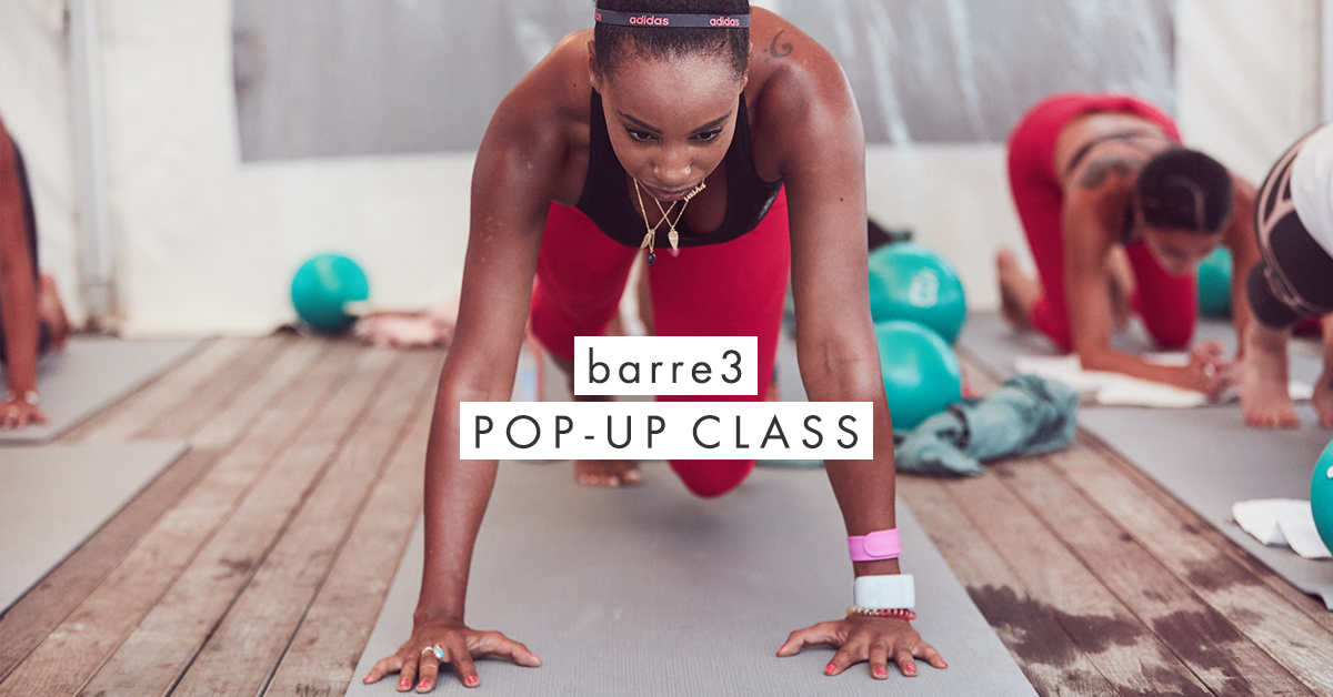 Barre3 Pop-Up Class on the Patio