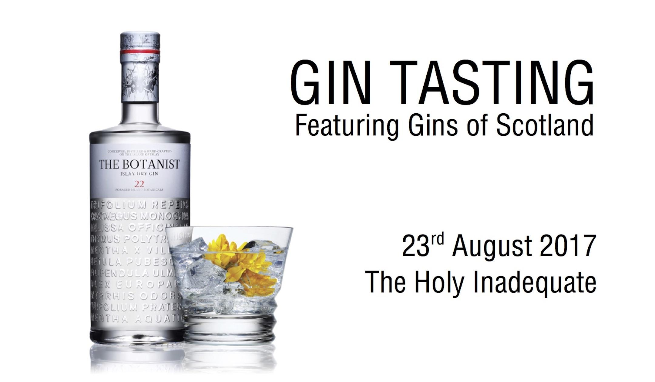 GIN TASTING EXPERIENCE - The Holy Inadequate,