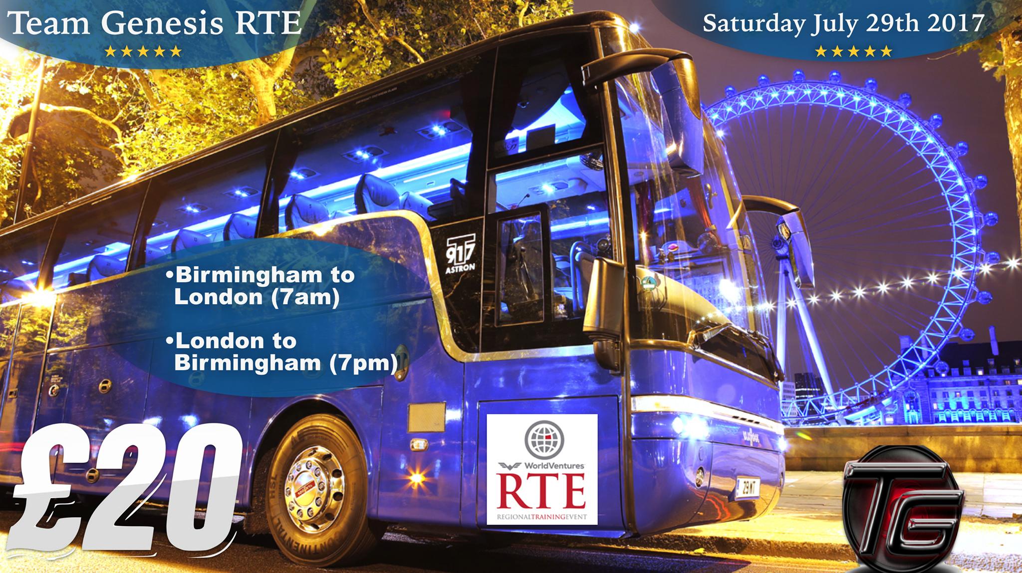 Bus transport for Regional Training Event - London, GB