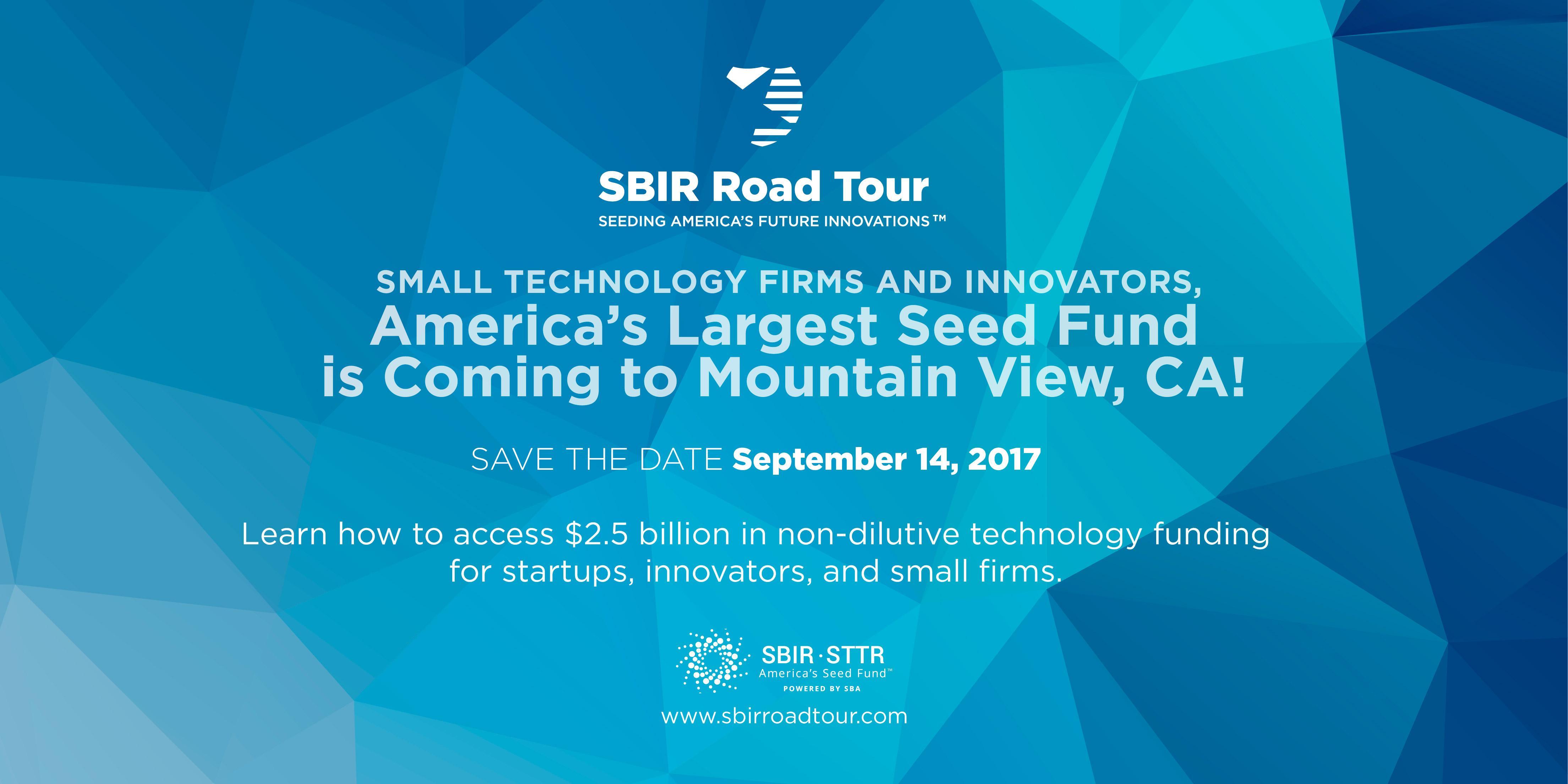 SBIR Road Tour - Mountain View, CA