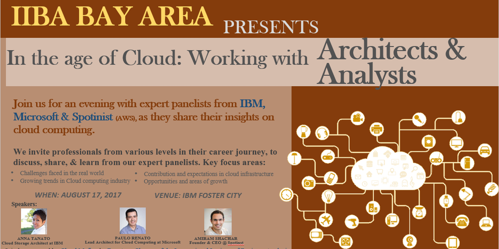 In the age of Cloud: Working with Architects & Analysts Tickets, Thu, Aug  17, 2017 at 6:30 PM | Eventbrite